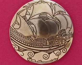Ottoman Sailing Ship 1 Button - B690