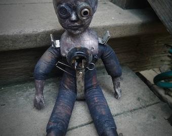 Creepy steampunk doll