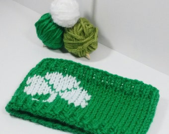 Shamrock Headband, Green Head Band, St Patricks Day Accessories, Green Ear Warmer, St Patricks Day Headband, Womens Shamrock Headband