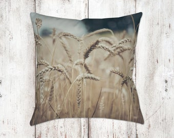 Wheat Decorative Pillow - Throw Pillows - Farmhouse Decor - Gifts - For Her - Country Decor - Farm Decor