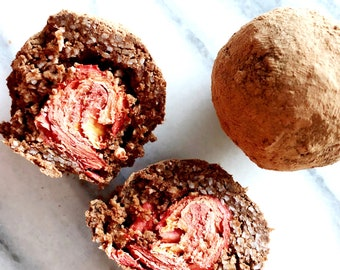 Chocolate Fruit Truffles Organic Raw Dairy Free Grain Free