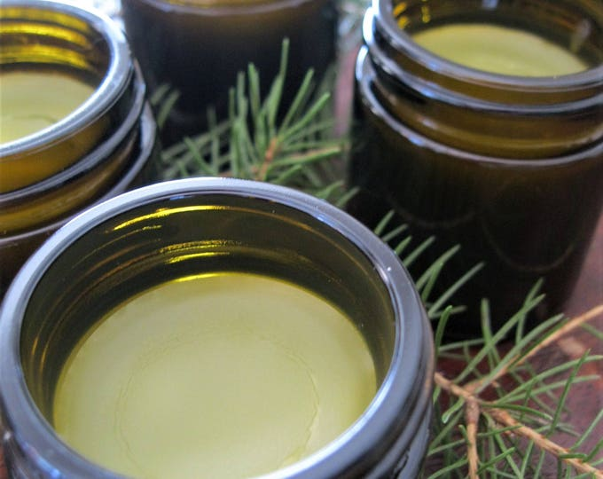 Wildcrafted pine pitch and plantain salve