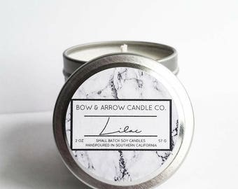 2 oz Natural Soy Candle Lilac Scented | 2 oz Tin Candle | Floral Scented | Lilac Candle | Spring Candle | Scented Soy Candle | Gift Idea