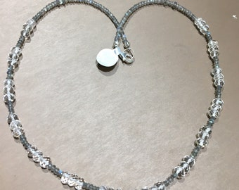 Clear Quartz and Labradorite necklace