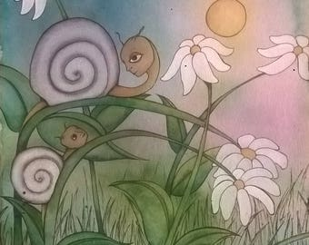 Spring Is Here - Original Watercolor Print