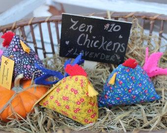Vintage Zen Chicken- Happy Chickens - Chicken Gift