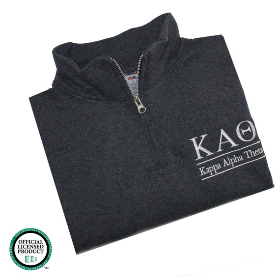 Kappa Alpha Theta, Quarter Zip, Kappa Alpha Theta Sweatshirt, Theta quarter zip, Theta sweatshirt, sorority sweatshirt, greek apparel