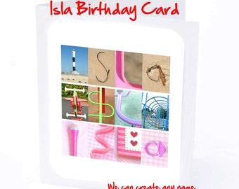 Isla Personalised Birthday Card
