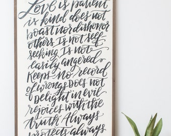 Love Is {Handlettered} 2x4