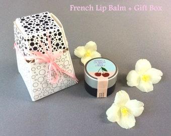 Natural Lip Gloss - Glass Jar - Flavored Lip Balm - 0 25 oz Cherry Lip Balm
