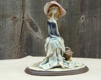 Vintage E. Tezza Unique Italian porcelain figurine hand sculpted and painted Collectibles