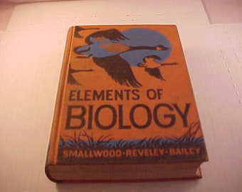 1948 Elements of Biology Textbook