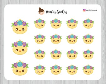 Easter Chick Stickers, Chick Planner Stickers