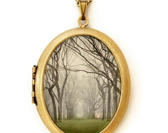 Photo Locket - Central Park New York Photo Locket Necklace