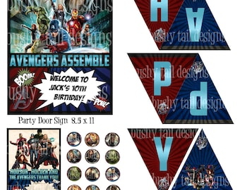 The Avengers Party Kit
