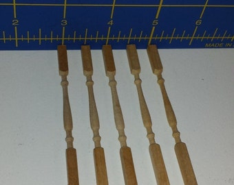Dollhouse Miniatures - 24 Wood Spindles / Balusters by Harry Holder 1/12  Scale