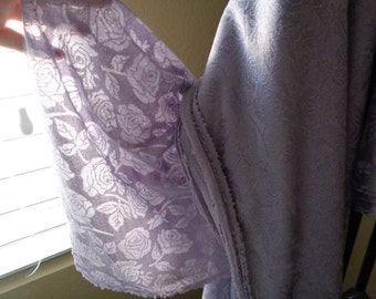 Beautiful Lilac / Periwinkle Rose  Fabric 4 yards Curtains or