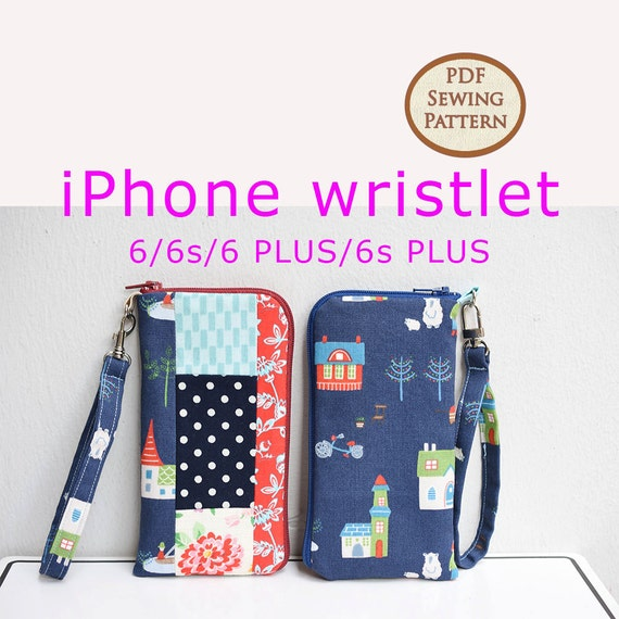 iPhone wristlet Pattern PDF Sewing Pattern Bag Sewing