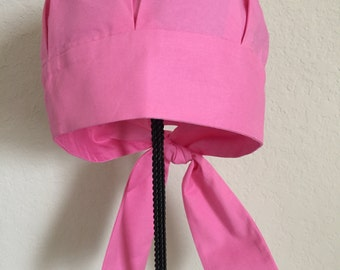 Women's Cancer Hat - Chemo Hat - Scrub Cap - Hair Loss - Head Coverings - Chemo Comfort - Pink