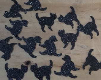 Glitter Black Cat Scatters Table Decoration, Event Confetti, Table Scatters,  Halloween, Cat lovers