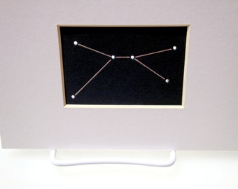 Cancer - Unframed Matted Aceo Asterism - Shadow Constellations Window Sun Catcher - Celestial Collection DDOTS