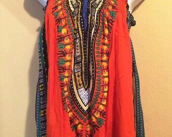 Traditional Dashiki Print Baby Doll Dress