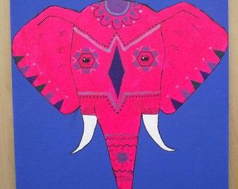 Neon Pink Elephant