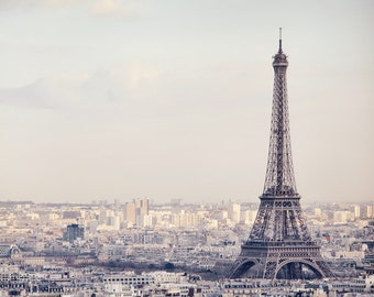 "Eiffel Tower Print, Paris Photography Print, Wall Art, Paris Print, Skyline, Wall Decor ""The Iron Lady"""