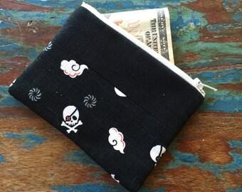 S A L E small change purse skulls argh