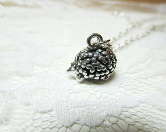 SALE only today Tiny Hedgehog  necklace with  Free  gift