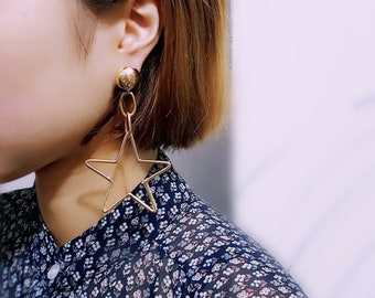 Acrylic Fashion Geometric earrings (Silver)