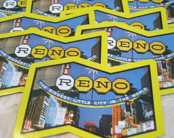 6 Reno Nevada Crooked Souvenir Vintage Playing Cards