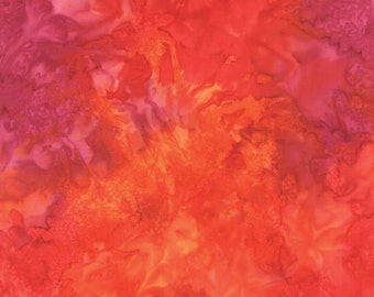 Red Orange Los Cabos Batik Fabric - Moda - 4335 30