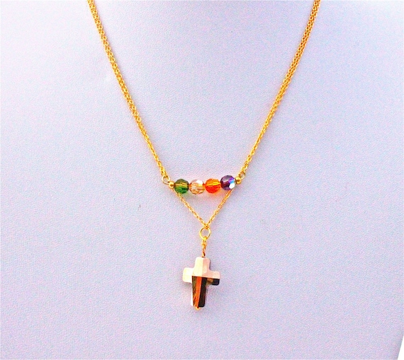 collier mariage  double chaîne plaqué or et éléments swarovski
