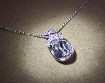 Swarovski Crystal Necklace - April Birthstone - Gift - Wedding - Bridesmaid Jewelry - Birthday Necklace - Anniversary