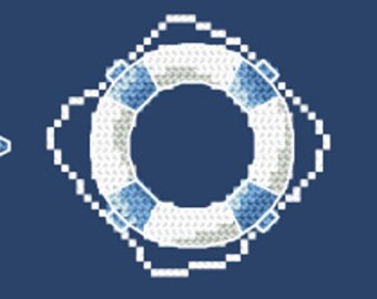 Sailor motives Stitch Pattern, Digital  Pdf ,Graphics Counted Cross Stitch pattern in PDF  format, Painting,  Easy
