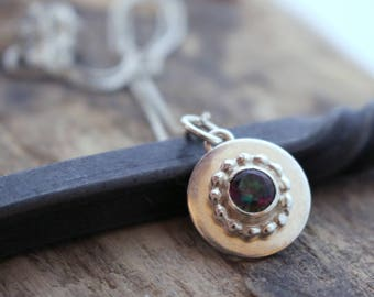 Rainbow Topaz Necklace / Sterling Silver Gemstone Necklace / Gift / Jewelry / Sale