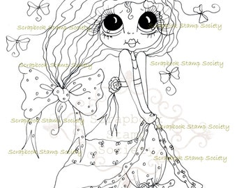 INSTANT DOWNLOAD Digital Digi Stamps Big Eye Big Head Dolls Messy Bessy IMG818 My Besties By Sherri Baldy
