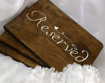 Wedding Reserved sign-Reserved sign-Rustic reserved sign-Rustic wedding decor-Rustic wedding signs-Wooden wedding signs-Wood signs