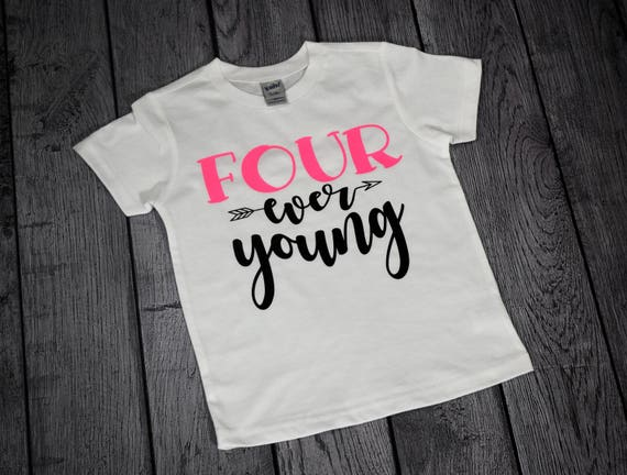 Though She Be But Four Is Fierce Birthday Shirt