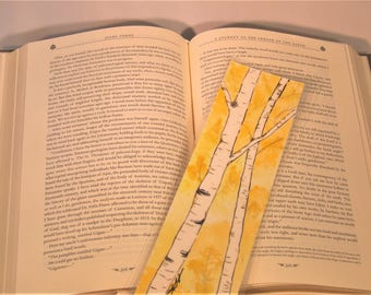 Watercolour Birch Trees Bookmark