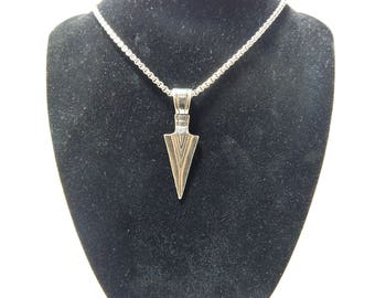 Arrow necklase,silver arrow necklase