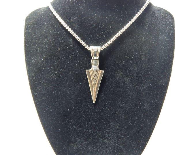 Arrow necklase,silver arrow necklase