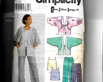 Simplicity Misses' Jacket, Top and Pants   Pattern 5153