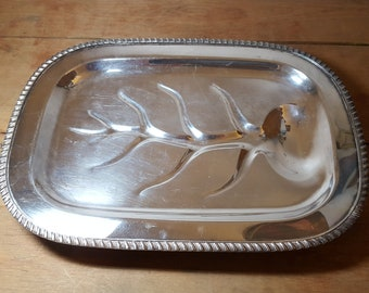 Vintage Silverplate Meat Tray Silver Plate Sheets R S Co Rockford Illinois Early 1900s