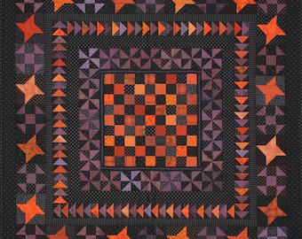Glow in the Dark Quilt Pattern PDF by Jen Daly Quilts - Instant Download