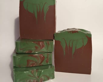 Tobacco and Bay Leaf Soap, Cold Process Soap, Homemade Soap, Handmade Soap, Vegan Soap