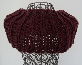 Snood - Wrap around the neck - scarf - Burgundy