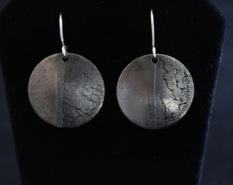 Etched German Silver Earrings (05212017-018)