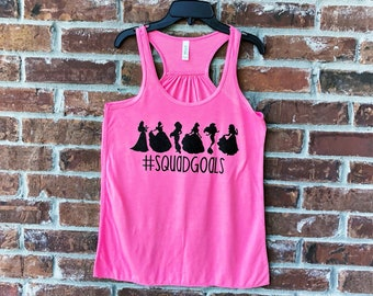 Squad Goals, Disney Tank, Disney Family Shirts, Run Disney, Disney Princesses, Disney Womens Tank Top, Disney Squad Goals